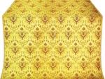 Kerkyra Greek metallic brocade (yellow/gold with claret)