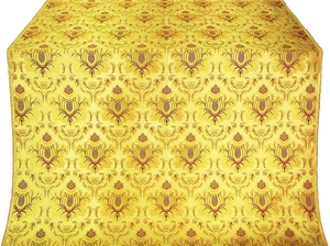 Kerkyra Greek metallic brocade (yellow/gold with claret)