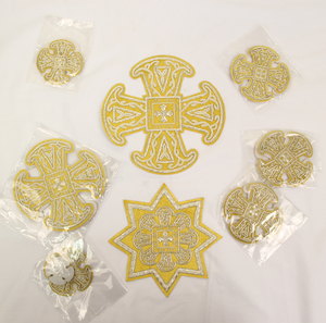 Hand-embroidered crosses Priest's set - I-040 (CLONE)