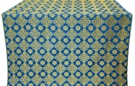 Bethlehem silk (rayon brocade) (blue/gold)