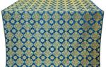 Bethlehem silk (rayon brocade) (blue/gold)