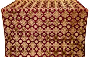Bethlehem silk (rayon brocade) (claret/gold)