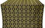 Bethlehem silk (rayon brocade) (black/gold)