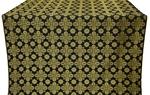 Bethlehem silk (rayon brocade) (black/gold)