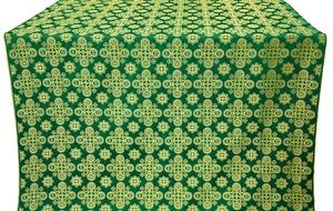 Bethlehem silk (rayon brocade) (green/gold)