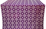 Bethlehem silk (rayon brocade) (violet/silver)