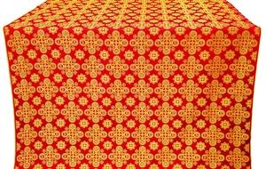 Bethlehem silk (rayon brocade) (red/gold)