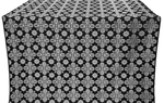 Bethlehem silk (rayon brocade) (black/silver)