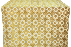 Bethlehem silk (rayon brocade) (white/gold)