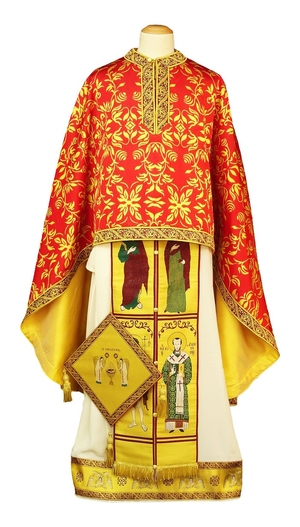 Greek Priest vestments - Christ the Archpriest - red