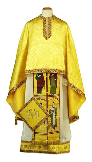 Greek Priest vestments - Christ the Archpriest - gold