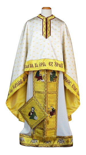 Greek Priest vestments - Christ on the Throne - white