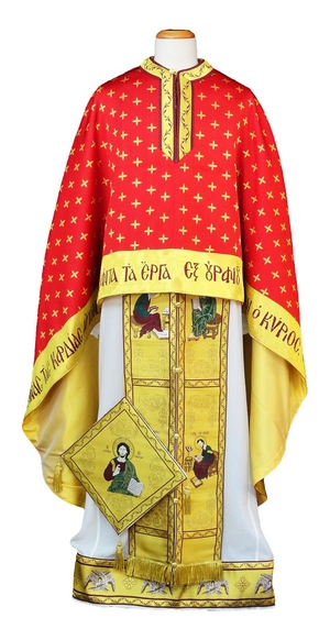Greek Priest vestments - Christ on the Throne - red
