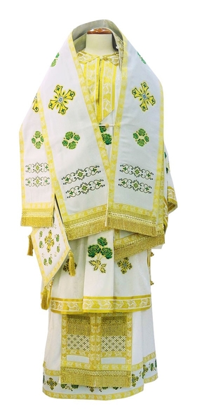 Bishop vestments - 3 (white-gold)