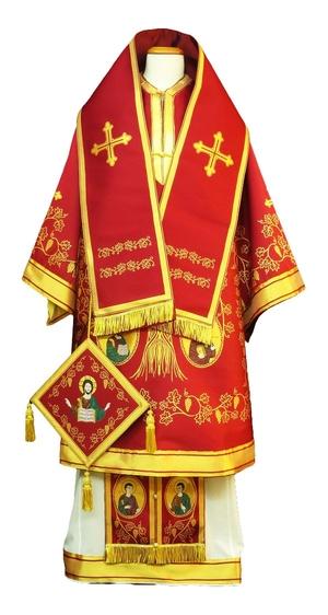 Bishop vestments - Apostle Tree red