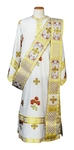 Deacon vestments - Roses (white-gold)