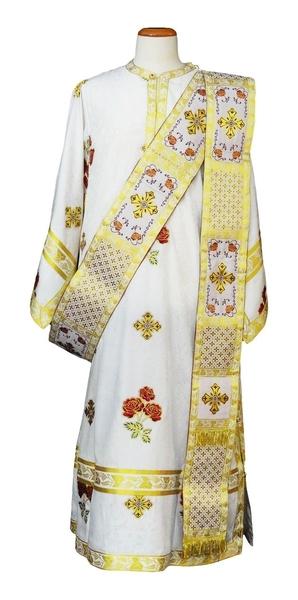 Deacon vestments - Roses (white-gold)