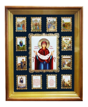 Wall icon A160 - Protection of the Mother of God
