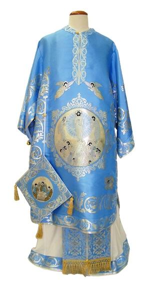 Bishop vestments - Resurrection (blue-silver)