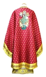 Greek Priest vestments - Christ on the Throne - claret