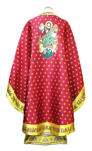 Greek Priest vestments - Christ on the Throne - claret