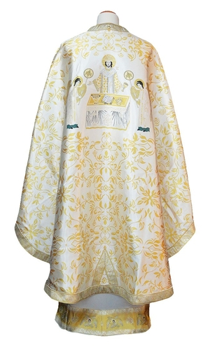 Greek Priest vestments - Christ the Archpriest (white-gold)