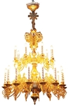 Two-level church chandelier - 8 (21 lights)