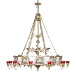 Two-level church chandelier (horos) - 30 lights