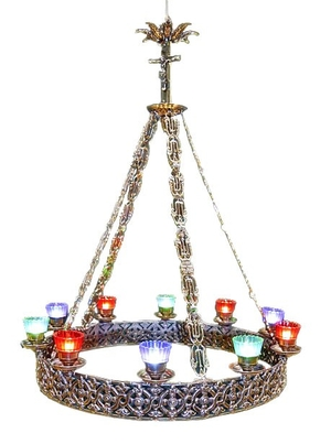 One-level church chandelier (horos) - 10 lights