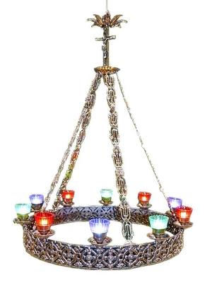 One-level church chandelier (horos) - 10 lights
