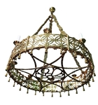 One-level church chandelier (horos) - 8 lights