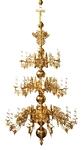 Three-level church chandelier - 24 lights
