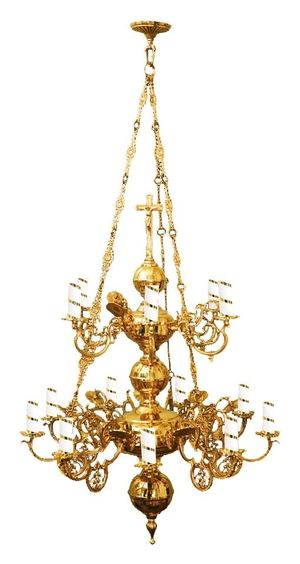 Two-level church chandelier no.7 (15 lights)