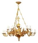 One-level church chandelier - 18 lights