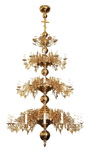 Three-level church chandelier - 36 lights