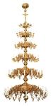 Five-level church chandelier - 76 lights