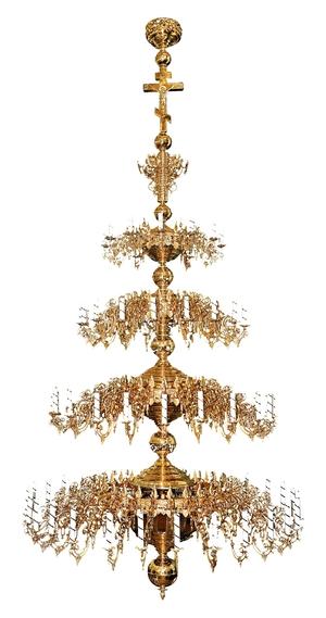 Four-level church chandelier - 80 lights