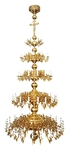 Four-level church chandelier - 62 lights