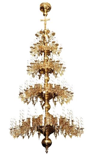 Four-level church chandelier - 124 lights