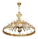 One-level Byzantine church chandelier - 36 lights