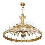 One-level Byzantine church chandelier - 36 lights