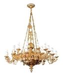 One-level church chandelier - 24 lights