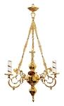 One-level church chandelier - 3 lights