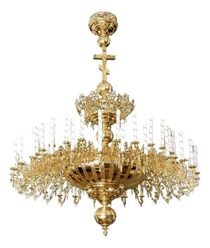 One-level church chandelier - 56 lights