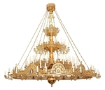 Two-level Byzantine church chandelier with horos - 165 lights