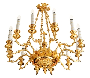 Church chandelier no.R1 (12 candles)