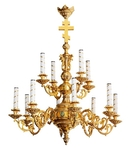 Church chandelier no.R2 (12 candles)