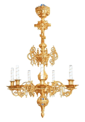 Church chandelier no.R3 (8 candles)