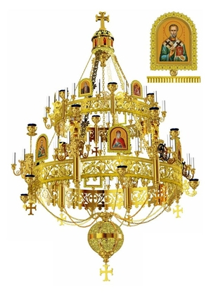 Church chandelier no.R2 (54 candles)