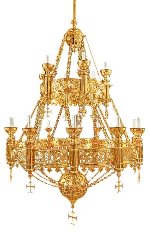 Church chandelier no.R3 (19 candles)